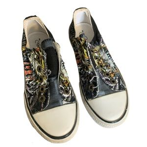 Ed Hardy Canvas Tattoo Sneakers - Boy's Size 1